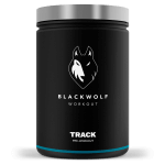 black wolf track